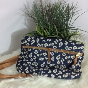 Fossil Blue & White Leather Purse